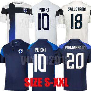 2020 2021 Finlandia National Team Mens Soccer Jerseys Nuovo Pukki Skrabbs Raitala Jensen Lod Kamara Finlandia Casa Away Tista Camicia da calcio Uniformi