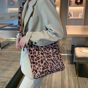 Fashion Leopard Print Brandbody Sacs Femmes Peluche Souffle Sofe Casual Sacs Messenger Sacs 2021 Femme moelleuse