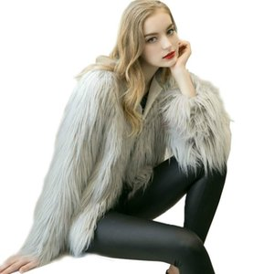 Women Bomber faux fur coat Mink Grass fur jacket Autumn Winter warm fluffy Artificial Outwear Shaggy Long Hair Cardigan 2020