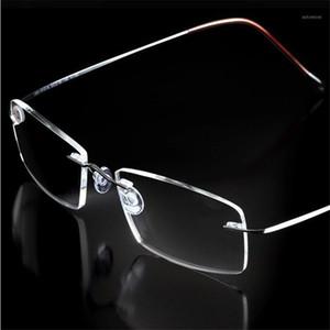 Olnylo Mode Klassische Gedächtnislegierung Randlose Lesebrille Licht Rahmenloser Brille Anti-Blue Presbyopic Eyewear Unisex1