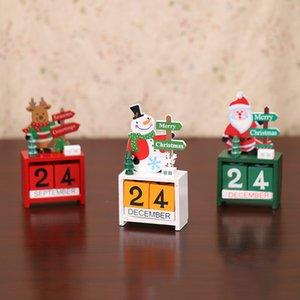 Ahşap Lockscreen Takvimler Noel Süsleri Home For Noel Süsleme Yaratıcı Çocuklar Hediyeler Parti Favor DWA1977