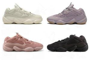 Top Discount White Bone 500 Chaussures de course Vision Femmes souple Utility Noir Kanye West Salt super Lune Jaune Rose Designer de sport Formateurs