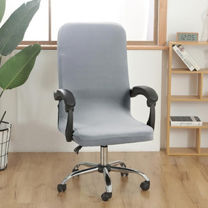 Chair Covers Stretch Office Computer Cover S M L Rotating Desk Seat Spandex Waterproof Elastic Slipcover Washable Removeable