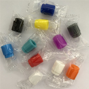 810 Silicone Rubber Disposable Drip Tip Mouthpiece Colorful Silicon testing caps Tester with individual package for TFV12 TFV8 big baby