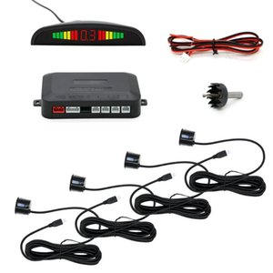 Bosion Car Auto Parktronic LED Parking Sensor with 4 Sensors Reverse Backup Car Parking Radar Monitor Detector System Display