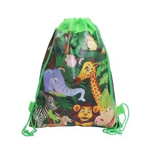 nouveaux sacs cordon de serrage de non-tissé animaux de dessin animé pour enfants garçon cartables garçon sac à dos chidren