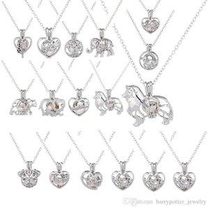Cage-Anhänger Designer Halskette Liebe wünschen natürliche Frischwasserperlen mit Oyster Perlen-Höhle Locket Halskette Hip Hop Bling Ketten