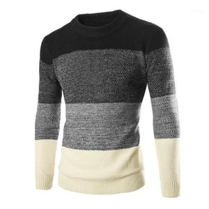 2020Men Casual Sweater Autumn Winter Warm Sweaters Clothes2020 striped sweater1