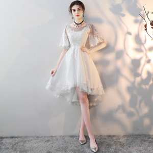 2019 Sexy Short Evening Dress Lace A-line Party Formal Dress Off Shoulder Homecoming Graduation Dress Homecoming Dresses