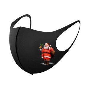 Mascarille Unisexe Réutilisable Fête de Mascarilla 3D Funny Snowman D5 Noël 1PC Masques Hommes Femmes Masque Masque Poussique Lavable anti-poussière Imprimé Bbyonb visage masque CTASC