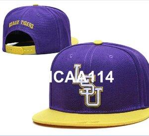 LSU Tigers Hat Design de Moda Crimson Tide toda a equipe NCAA ajustável Hip Hop Cap ajustável EUA Colégio Snapback Chapéus Fan Caps a1