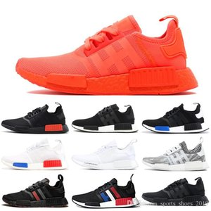 R1 Running Shoes For Women Men Og Atmos Japan Solar Red Thunder Tri -Color Triple White Black Mens Trainer Sports Sneaker Drop Shippi