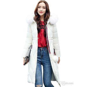 2020 fashion luxury Big fur winter coat thickened parka women stitching slim long winter coat down cotton ladies down parka down jacket wom