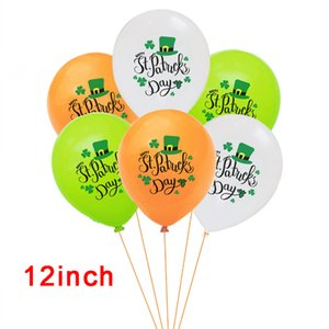 Decoraciones del día de San Patricio Decoraciones verdes tréboles Banners Set Shamrock Lucky Irish Party Garlands Festival Irlandés Festival Latex Globos Sets EEF4925