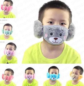 Зимний мультфильм лицевая маска для лица уха защитник родитель-ребенок взрослые детские ушные маски ребёнок девушка мальчик рот-муфеля наушники ветрозащитный уха теплый e92902