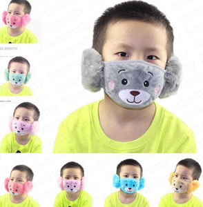 Winter Cartoon Face Mask Ear Protector Parent-child Adult Kids Ear Masks Baby Boy Girl Mouth-muffle Earmuffs Windproof Ear Warmer E92902