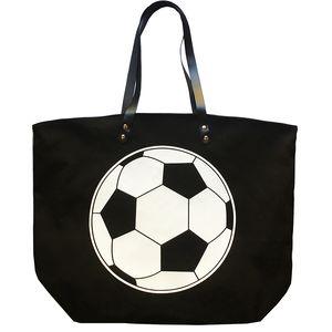 Foldable Shopping Bag Printed Portable Handbags Baseball Tote Softball Basketball Football Volleyball Canvas Bags 8 Style GWF3401