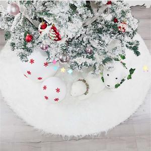 New Christmas decorations Christmas tree supplies pure white Plush tree dress Christmas tree dress custom #0011