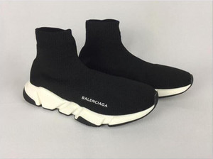 Wholesale 2020 High Quality Unisex Casual Sports Shoes Fashion Luxury Sock Women Slip-on Elastic Cloth Speed Trainer Men Shoes 5