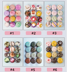 Tinplate Candle Jar Empty Tin Can Donut Metal Handmade Aroma Candle Making Accessories Mini Box with Lid Small Home Decor DWD2906