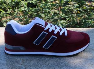 2021 Moda Lujoso Zapatillas de deporte Mocasistas Diseñadores Hombres Mujeres Bajo Corte Casual Holido Zapatos Unisex 574 Zapatos para caminar al aire libre Tamaño 36-44