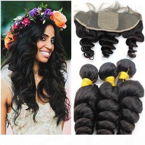 13x4 Silk Base Lace Frontal с пучками Малайзийская свободная волна вьющиеся человеческие волосы с свободным средним 3 часть шелковый верхний кружевной лобное закрытие