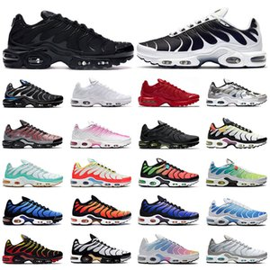 Nike air max tn Top quality running shoes para homens triplo branco preto Volt Color Flip HYPER CRIMSON moda Athletic sports sneakers formadores tamanho 40-46