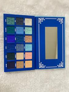 JS Blue Blue Blood 18Colors Pauche Palette JS Advanced Blue Tone Strip Scalmer Glitter Poudre Poudre Poudre