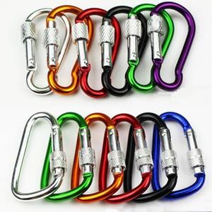 3.6g Locking Escalada Carabiner Screw Buckle Carabiners Botão Outdoor Cadeado Camping Outdoor Hooks bloqueio gancho Caminhadas Para mj_fashion bbygt