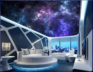 Custom ceiling wallpapers 3d zenith mural wallpaper Sky night sky clouds universe zenith ceiling mural decoration painting mural living room