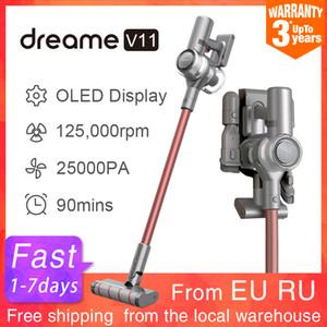 Dreame V11 Wireless aspirapolvere tenuto in mano di visualizzazione a 25 kPa Tutti in un collettore di polveri 3000mAh 150AW portatile Cleaner cordless