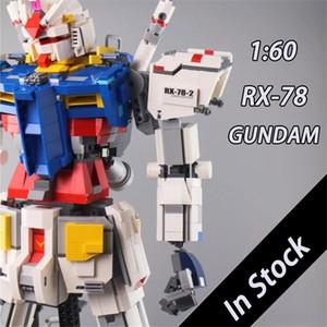 In Stock am Robot MOC Mobile Suit am Founder Model Set RX78-2 Static 1:60 Model Building Block 3500pcs Bricks Toys Gift X0102