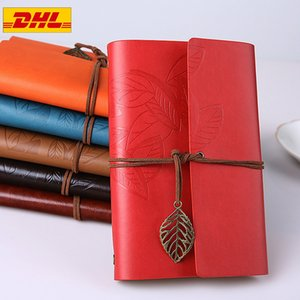 Retro Notebook Diary Notepad Literature PU Leather Note Book Stationery Gifts Traveler Journal Planners Office School Supplies Free DHL