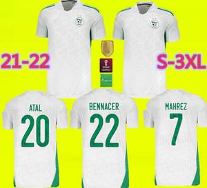 2020 2021 Argelia Mahrez Soccer Jerseys Dos estrellas 20 21 Atal Feghouli Slimani Brahimi Home Bennacer Football Shirts Maillot de Pie Uniformes