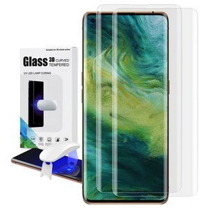 UV Tempered Glass For OPPO Find X2 Pro Full Cover Liquid Screen Protector Curved Glue Film Mobile Phone Accessories Hot