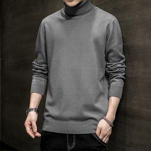 Herbst-Winter-Herren Pullover Street Japan Style Pullovvers Men Casual Harajuku Langarm Herrenbekleidung Turtelneck Sweater