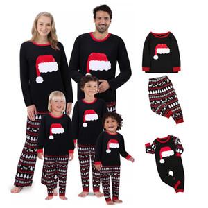 Navidad pijamas de Navidad Decoración de Navidad Sombrero de impresión Traje de Navidad de ropa Cosplay Inicio usar pijamas desgaste entre padres e hijos XD24023