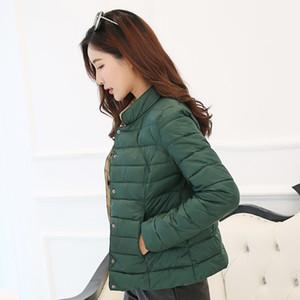 Плюс Размер Тонкой теплого пальто зимы способ женщин вниз Хлопок Puffer Jacket Женских Черный Белый Повседневный Короткого Parka Streetwear 201022