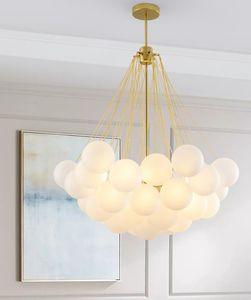 Lampade Nordic sfera della bolla lampadario in vetro di lighting designer pendente creativo semplice camera da pranzo Lampade a sospensione alberghiere soggiorno