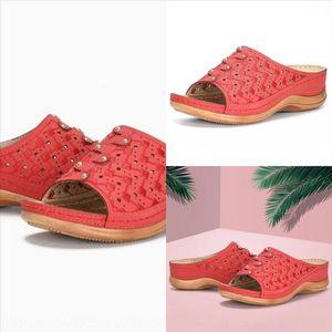 vusE Best Mens Womens flat high quality designer slipper Summer Ladies Beach Slide Casual Slippers Sandals Shoes Comfort Print Leather