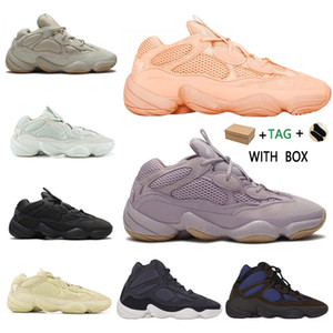2020 kanye west 500 mens running shoes soft vision stone bone white utility black super moon yellow reflective men women outdoor sneakers