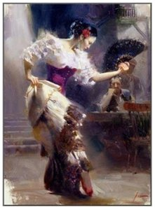 .37 The Dancer Spanish Beautiful Dancer by Pino Daeni Hand painted famous Impressionist Art Oil Painting On Canvas customized sizes ds