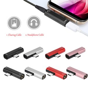 Type C 2in1 Audio Adapter Charging and music simultaneously Alumimum High quality USB C to 3.5 jack converter