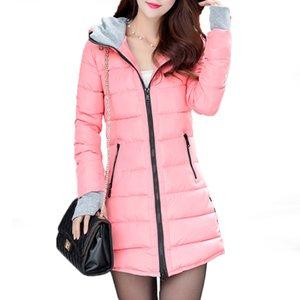 Fanmuer Mulheres Winter Jackets Parka Wadded Vestuário Feminino Magro Parkas casacos de algodão com capuz senhoras Casacos Sobretudos 201026