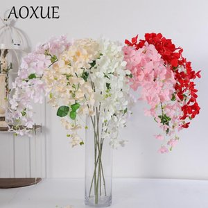 Axoue la nouvelle fleur de soie de simulation de simulation d'hortensia sauvage Home Home Mariage suspendu Road Layout artificiel faux fleurs mur suspendue