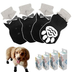 Anti-slip Knit Socks For Pets With Traction Soles Pet Shoes Boots For Indoor Wear Slip On Paw Protectors For Small Med bbyAWZ