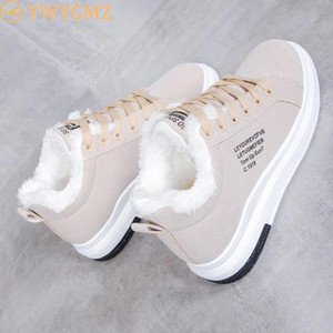 Cotton Shoes Female New Women's Boots Winter Plus Velvet Cotton Shoes Thick Soled Warm Snow Women's Boots #Xt8s