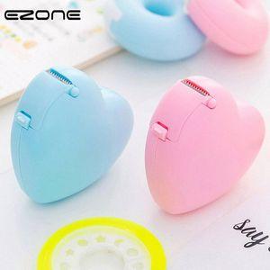EZONE Candy Color Masking Tape Cutter Design Of Love Heart Donut Shape Sticker Tape Cutter Office Dispenser School Supply wu6n#