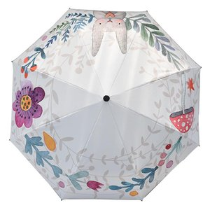 Kocotree-Kind-Mädchen-Karikatur-nette windundurchlässige Regenschirm Big tragbare Falten Boy Sonnenschirme Sonnenschirm Wasserdicht bbyWEH sweet07