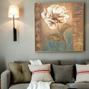 Scandinavian Flower Canvas Poster Painting Abstract Painting Retro Poster e Stampe Immagini Wall Art per Soggiorno Home Decor